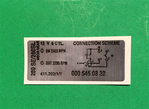 decal relay wiring diagram 411 202 1 1 for 280sl se with rh authenticclassics com