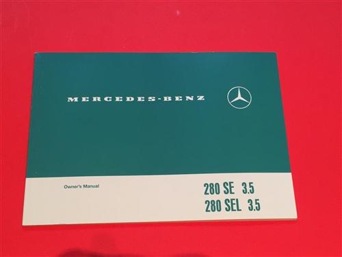 mercedes benz 280se 3 5 280sel 3 5 108 chassis owners manual 6510 rh authenticclassics com 1972 mercedes 280se service manual Mercedes-Benz 280SE Interior Kits