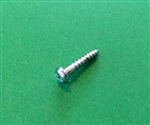 Chrome Plated Round Head Wood Screw DIN 7996 - 3x16