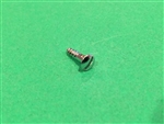 Chrome Plated Oval Head Slotted Wood Screw -  DIN 95 - M3x13