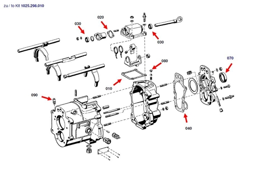 Late type Seal Kit for ZF 5-Speed Transmission Type S5-20