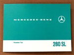 FOLDING TOP INSTRUCTIONS CARD FOR 280SL