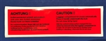 Luggage Compartment warning Decal for Mercedes 600