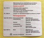 BREAK IN SCHEDULE DECAL - GERMAN