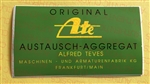 "DECAL ""ORIGINAL ATE  ALFRED TEVES"" ​ ​GERMAN LANGUAGE -  300SL & OTHERS"