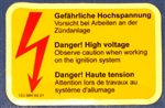 TRANSISTOR IGNITION SYSTEM DECAL - 280SL + OTHER MODELS