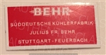 "DECAL - RECTANGULAR ""BEHR"" LOGO"
