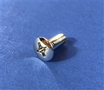 Chrome Plated Oval Head Machine Screw -  DIN 7988 - M6x15