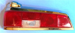 Red/Clear/Red Taillight Lens for 110, 111Ch.- Left Side