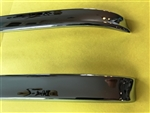 Chrome Garnish Trim Rail set for Hardtop Roof - fits 230SL 250SL 280SL
