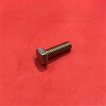 Hex Head Cap Screw M6x18  DIN 933 - Yellow Zinc Plated