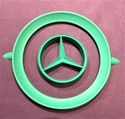 Rubber Painting Stencil for Hub Cap - For Mercedes 190SL - 230SL - 250SL - 300SL & others