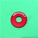 """EMERGENCY"" Sign for Hazard Switch - fits 100, 108, 109, 111, 113Ch. + others"