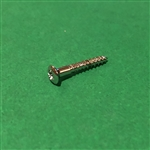 Chrome Plated Oval Head Wood Screw -  DIN 7995 - 3x20