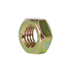 M8 Nut - LEFT HAND THREAD - Din 934L - Yellow Zinc Plated Steel