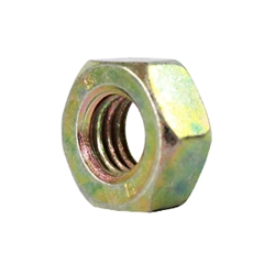 M10 Nut - LEFT HAND THREAD - Din 934L - Yellow Zinc Plated Steel