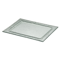 "11 3/4"" x 9"" Rectangular Centered Glass Tray"