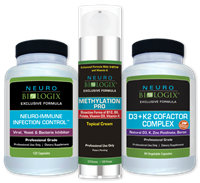 Essential Immune Support Kit (Neuro-Immune Infection Control, Methylation Pro Topical, Vitamin D3+K2 Cofactor)