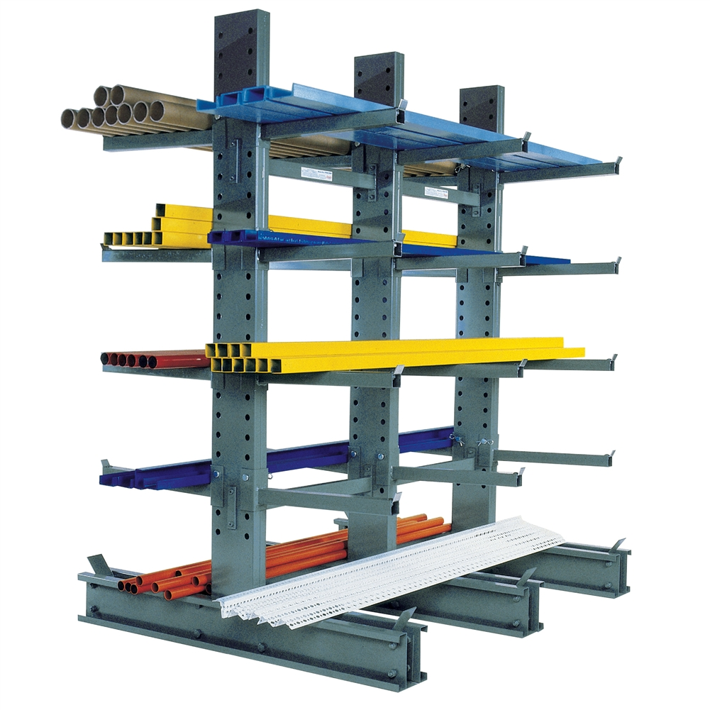 Standard Duty Cantilever Rack With 18 Arms By Spg Shelving Com