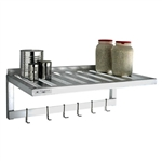 "20""d T-Bar Aluminum Wall Shelves w/ Hanger and Hooks"