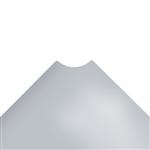 "12""d Plastic Wire Shelf Liners - Light Gray"