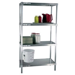 "15""d Solid Brute Aluminum Shelving Units"