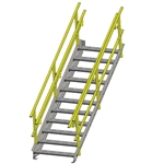 "24""w OSHA Stairway w/ External Guard Rail"