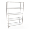 "18""d Metro Super Erecta White Wire Shelving with 5 Shelves"