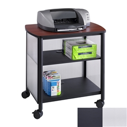 Office printer stand with two lower shelves