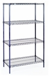 Nexelon dark blue metallic rust proof finish wire shelving
