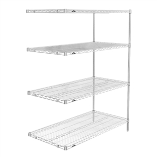 "18""d x 63""h Stainless Steel 4-Shelf Add-Ons"