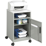 Gray Steel Compact Machine Stand with laminate top and Lower Cabinet