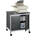 Deluxe Steel Machine Stand with Double Doors- Black