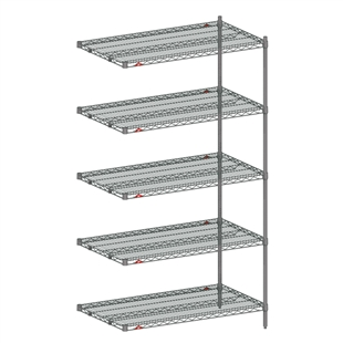 "18""d x 74""h - Super Erecta 5-Shelf Add-Ons"