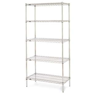 "18""d x 74""h Stainless Steel 5-Shelf Units"