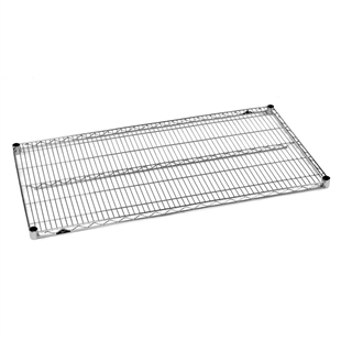 "18""d Super Erecta Stainless Steel Wire Shelves"