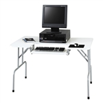 Folding Computer Table with tilting keyboard tray