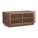 Linea Narrow TV Stand Walnut