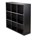3x3 Cube Shelf w/ Wainscoting Panel