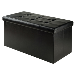 Double Ashford Ottoman w/ Storage Faux Leather