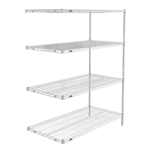"21""d x 63""h Stainless Steel 4-Shelf Add-Ons"