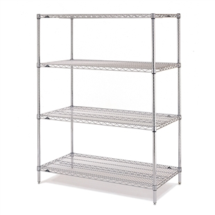 "21""d x 63""h Stainless Steel 4-Shelf Units"
