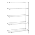"21""d x 74""h Stainless Steel 5-Shelf Add-Ons"