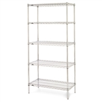 "21""d x 74""h Stainless Steel 5-Shelf Units"