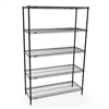 24 inches deep x 24 inches wide 5 Shelf Kits- Black