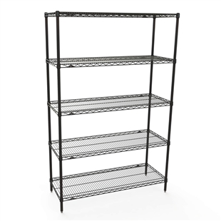 "Metro Black Wire Shelving kit 24""d x 30""w- 5 tiers"