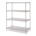 "24""d x 63""h Stainless Steel 4-Shelf Units"