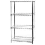 "24""d x 74""h Poly-Z-Brite Rust-Proof 4 Shelf Units"