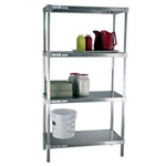 "24""d Solid Brute Aluminum Shelving Units"