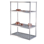 "24""d T-Bar Aluminum Shelving Units"